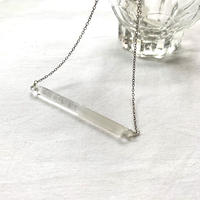 aurora glass sandblast necklace / 16-n11