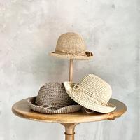 【キッズ】ペーパー編み帽子