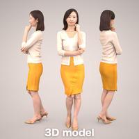 3D人物素材 [Posed]   097_Aya