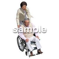 人物切抜き素材 シニア介護編 S_343