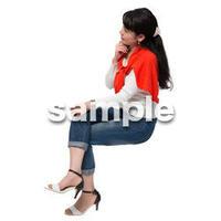 Cutout People 座る女性 KK_267