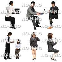 人物切抜きセット☆座る人 8set023