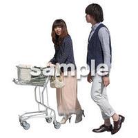 人物切抜き素材 ショッピングモール護編 T_458