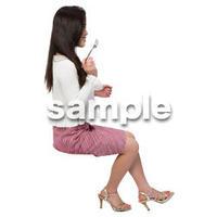 Cutout People 座る女性 KK_069