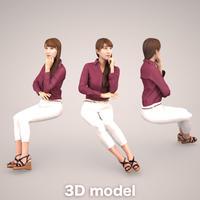3D人物素材  009_Rika