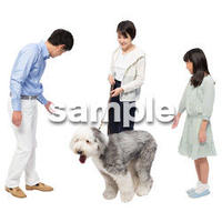 Cutout People 犬の散歩 II_462