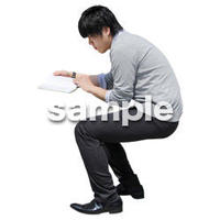 人物切抜き素材 座る人Ⅱ編 Q_450
