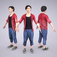 3D人モデルAポーズ 062_Syun