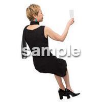 Cutout People 座る女性 KK_419