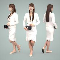 3D人物素材  [Posed]  001_Rika