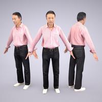 3D人モデルAポーズ 042_Ken