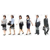 人物切抜きセット☆ビジネス 8set003