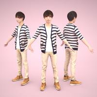 3D人モデルAポーズ 036_Toru
