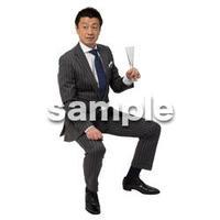 Cutout People 座る 男性 LL_032