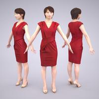 3D人モデルAポーズ 024_Haru