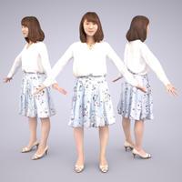 3D人モデルAポーズ 012_Kana