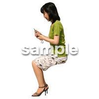 人物切抜き素材 夏服・フィットネス編 J_142