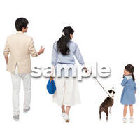Cutout People 犬の散歩 II_450