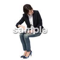 Cutout People 座る女性 KK_142