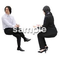 人物切抜き素材 座る人Ⅱ編 Q_014