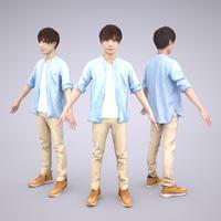 3D人モデルAポーズ 034_Toru