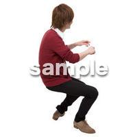 Cutout People 座る 男性 LL_439