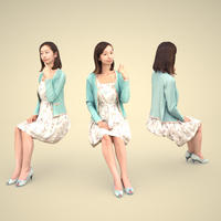 3D人物素材 [Posed]  091_Aya