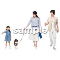 Cutout People 犬の散歩 II_446
