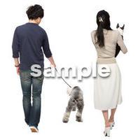 Cutout People 犬の散歩 II_480