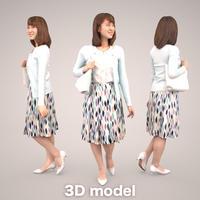 3D人物素材 [Posed]   019_Kana