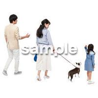 Cutout People 犬の散歩 II_449