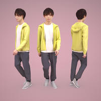 3D人物素材  [Posed]  039_Toru
