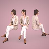 3D人物素材  [Posed]  081_Ren