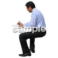 人物切抜き素材 座る人編 H_219