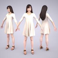 3D人モデルAポーズ 074_Yui