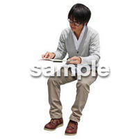 人物切抜き素材 座る人Ⅱ編 Q_506
