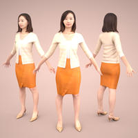3D人モデルAポーズ 098_Aya