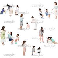 人物切抜きセット☆アットホーム 1_set142
