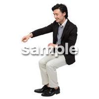 Cutout People 座る 男性 LL_082