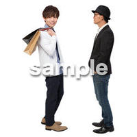 Cutout People 男性ペア JJ_378