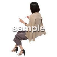 Cutout People 座る女性 KK_229