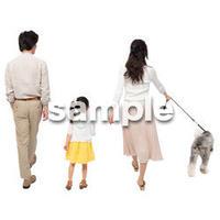 Cutout People 犬の散歩 II_445