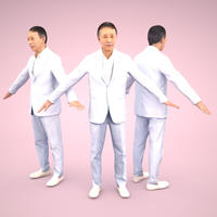 3D人モデルAポーズ 044_Ken