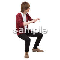 Cutout People 座る 男性 LL_438