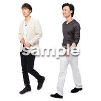 Cutout People 男性ペア JJ_342