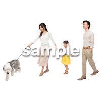 Cutout People 犬の散歩 II_442
