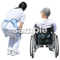 人物切抜き素材 シニア介護編 S_085