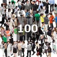 100個セット★人物切抜き素材-鳥瞰 1k018