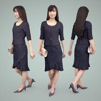 3D人物素材  [Posed]  075_Yui