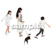 Cutout People 犬の散歩 II_459